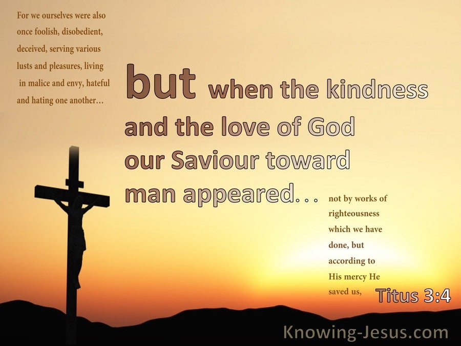 Titus 3:4 The Kindness And Love Of God Towards Man (orange)