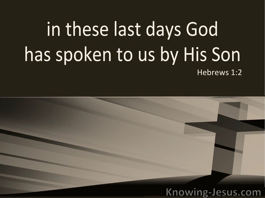 Hebrews 1:2 God Has Spoken In These Last Days (brown)