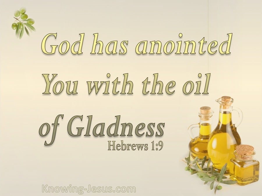 Hebrews 1:9 The Oil Of Gladness (beige)