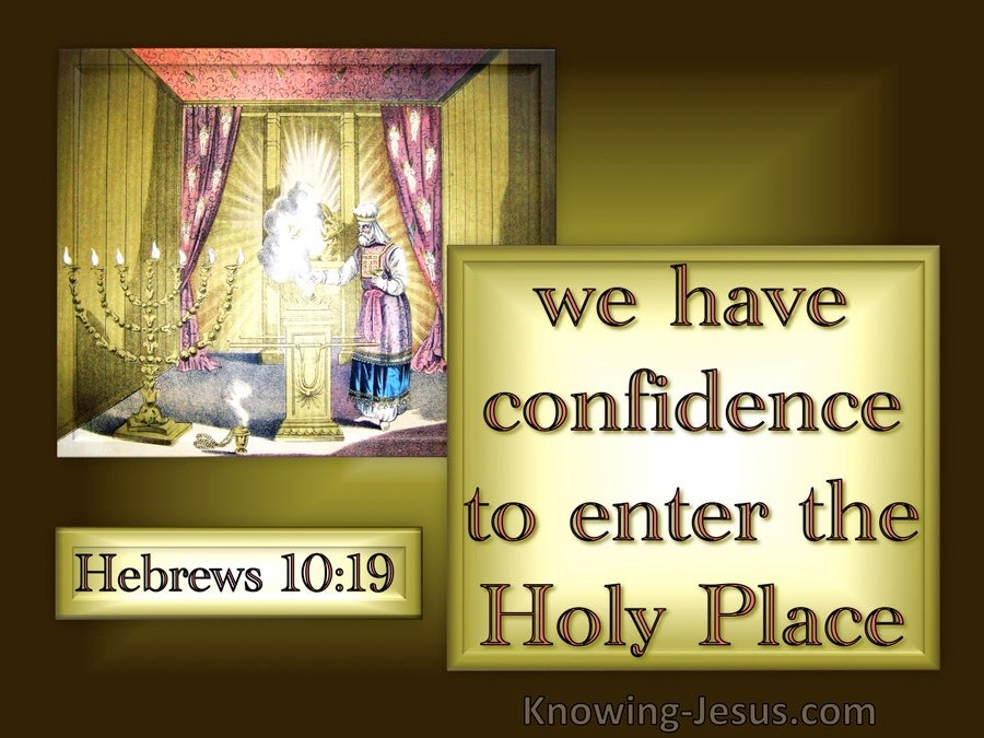 Hebrews 10:19 Confidence To Enter The Holy Place (brown)