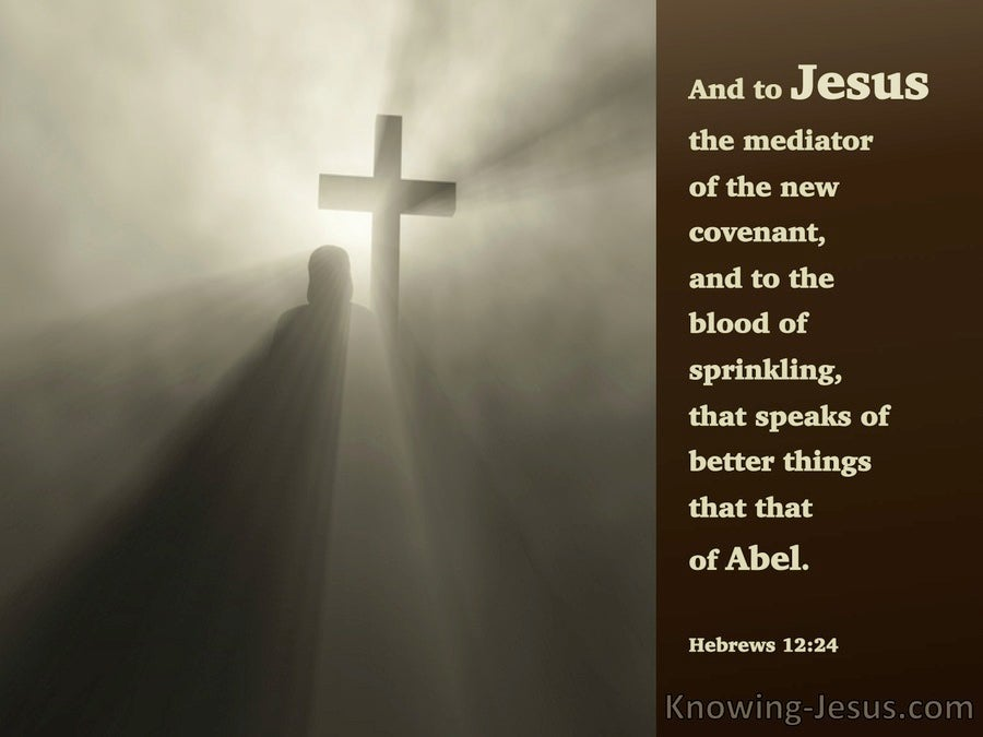Hebrews 12:24 The Mediator Of A New Covenant (brown)