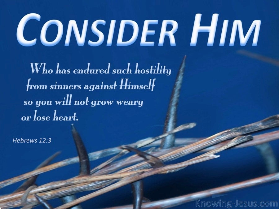 Hebrews 12:3 Consider Him (blue)
