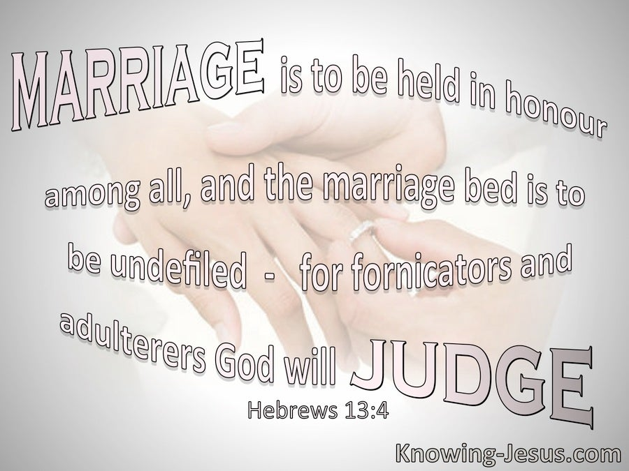 Hebrews 13:4 Marriage Is To Be Held In Honour (pink)
