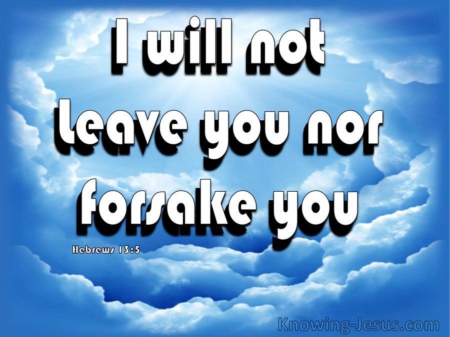 Images Hebrews 13:5