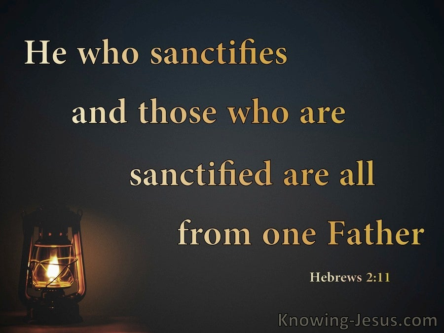 Hebrews 2:11 The Sanctifier And Sanctified Are Of One Father (black)