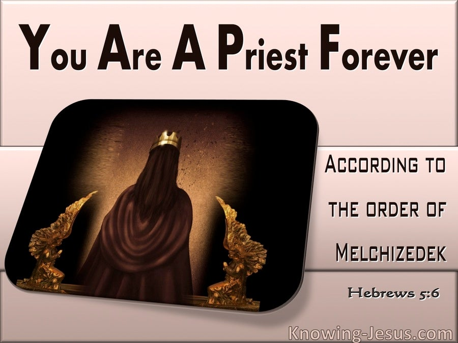 Hebrews 5:6 You Are  Priest Forever After The Order Of Melchizedek (pink)