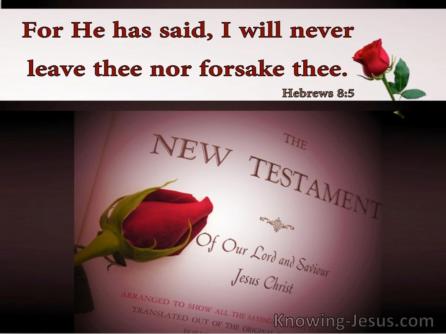 Hebrews 8:5 For He Has Said I Will Never Leave Thee Nor Forsake Thee (utmost)06:04