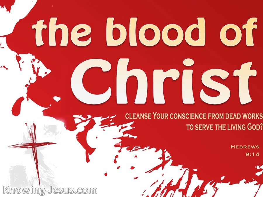 Hebrews 9:14 The Blood of Christ (gray)