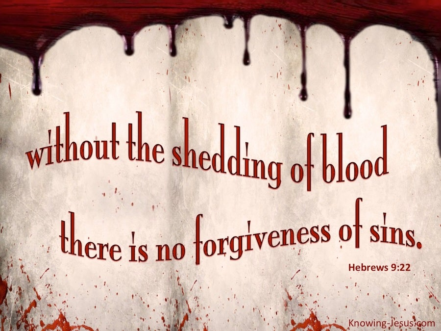 Hebrews 9 22 No Forgiveness Without The Shedding Of Blood