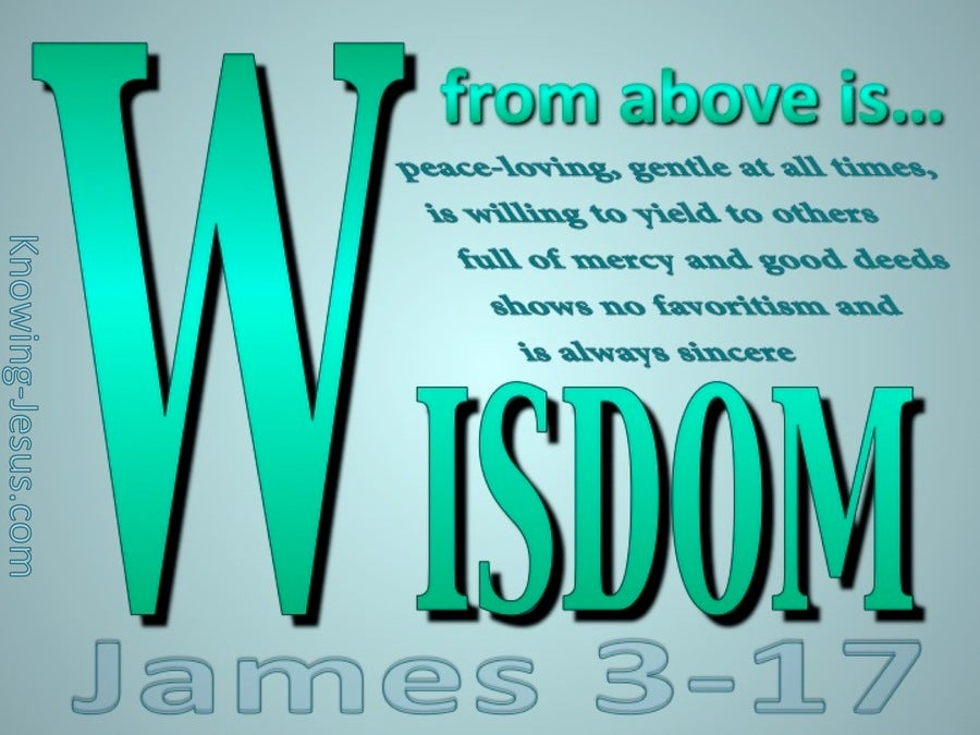 James 3:17 Wisdom From Above (green)