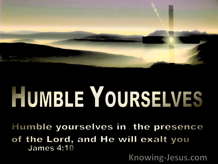 James 4:10 Humble Yourselves In The Presence  Of The Lord (black)