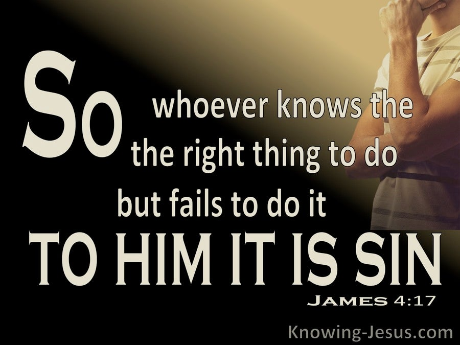 James 4:17 TO Him It Is Sin (brown)