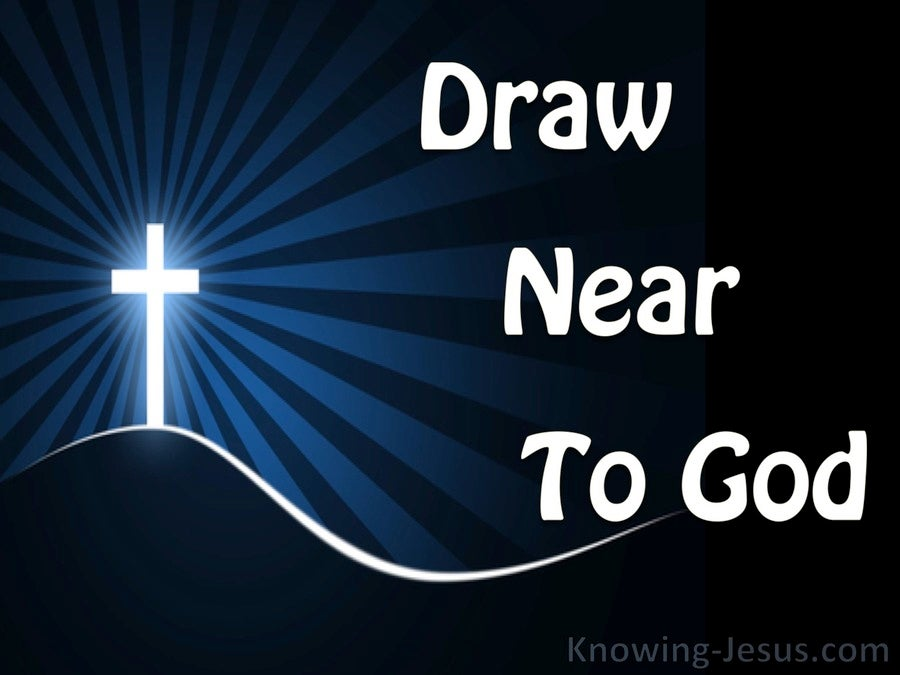 James 4:8 Draw Near To God (blue)
