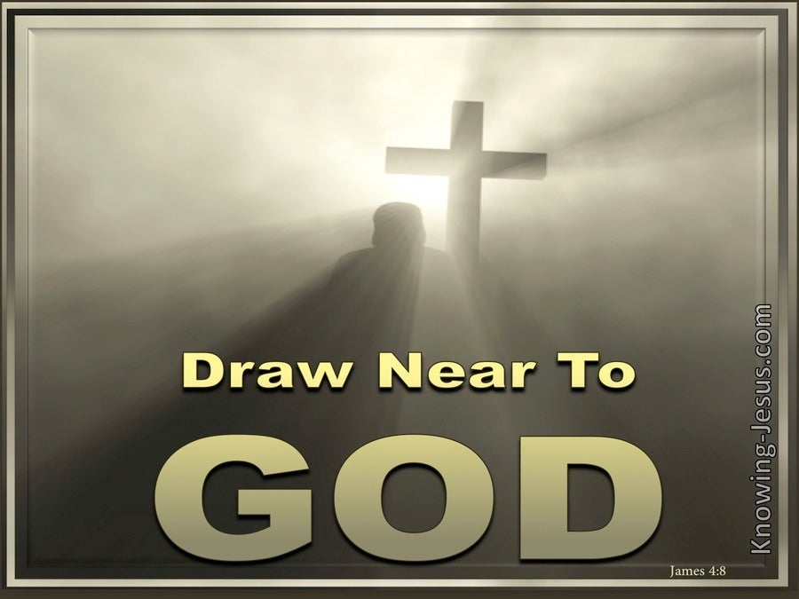 James 4:8 Draw Near To God (gold)