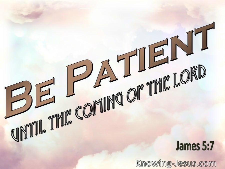 James 5:7 Be Patient Until The Coming Of The Lord (pink)