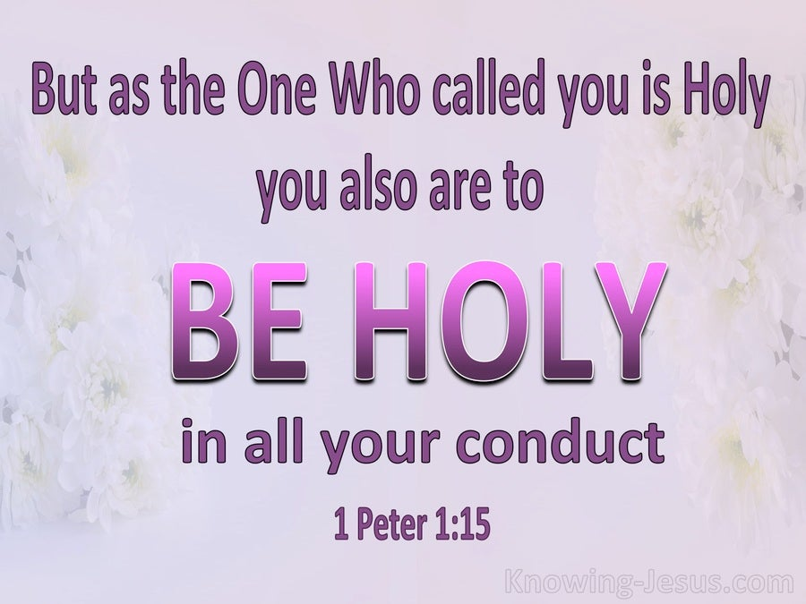 1 Peter 1:15 Be Holy In All Your Conduct (pink)
