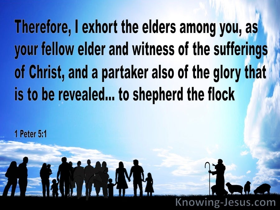 1 Peter 5:1 Exhortation To The Elders (blue)