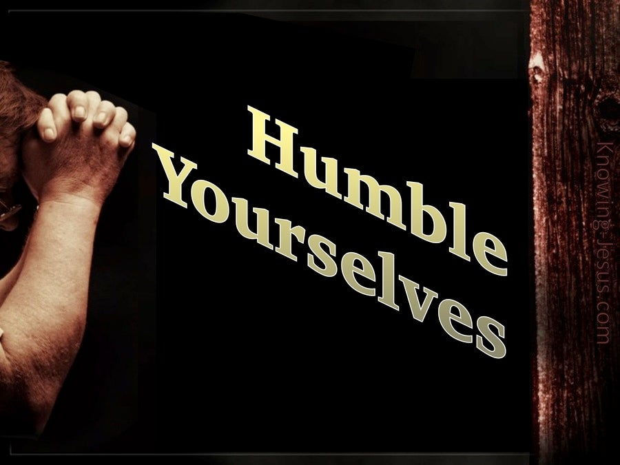 1 Peter 5:6 Humble Yourselves Under The Mighty Hand Of God (gold)