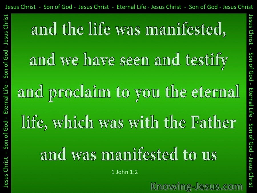 1 John 1:2 The Life Was Manifested (green)