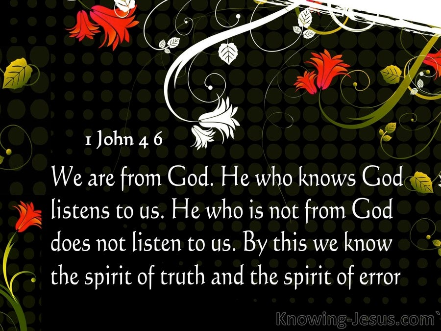 1 John 4:6 Spirit Of Truth And Spirit Of Error (gray)