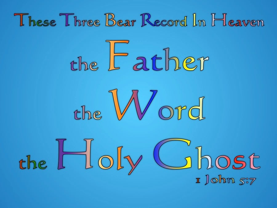 1 John 5:7 These Three Are One (blue)