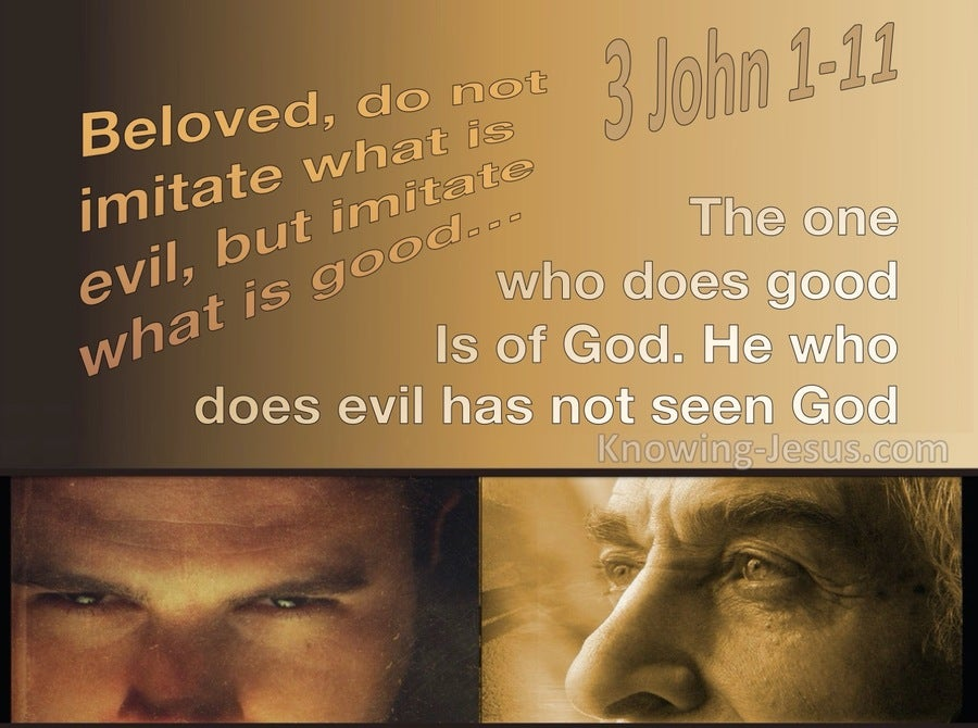 3 John 1:11 Imitate What Is Good Not Evil (brown)