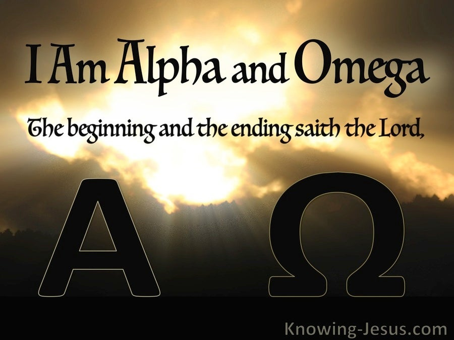 Revelation 1:8 Once Upon Eternity (devotional) (brown)