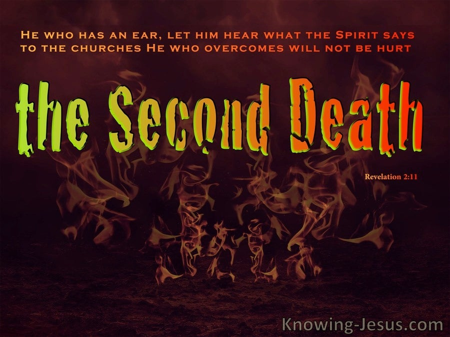 Revelation 2:11 THe Second Death (black)