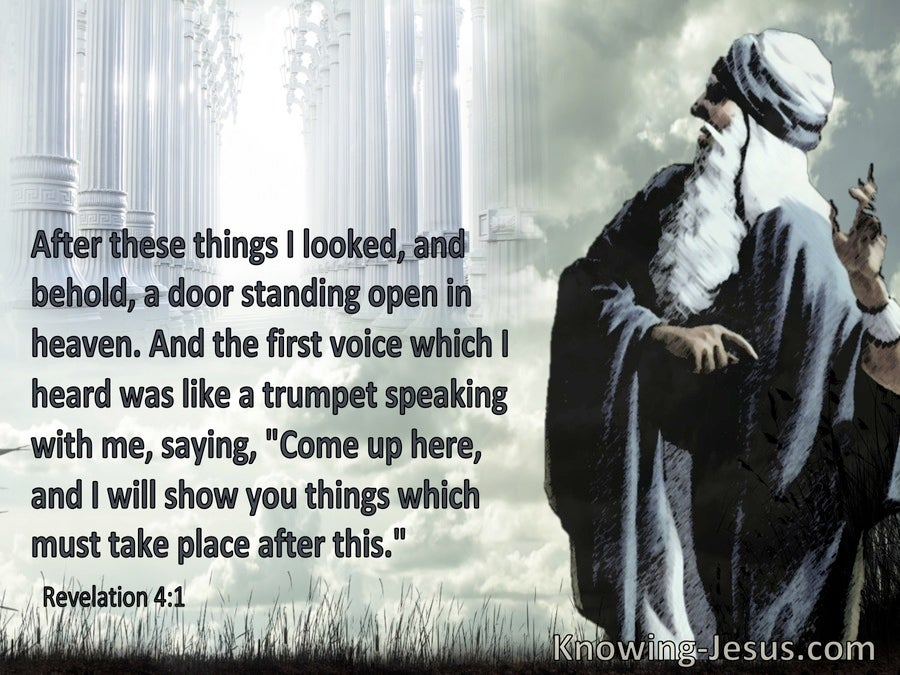 Revelation 4:1 Behold A Door Standing Open In Heaven And A Voive Saying Come Up Here (aqua)