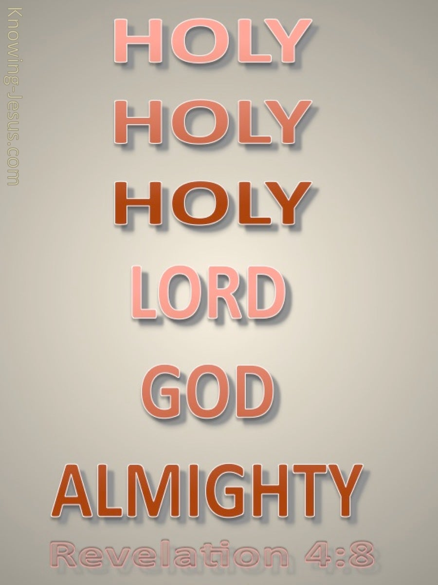 Revelation 4:8 Lord God Almighty (pink)