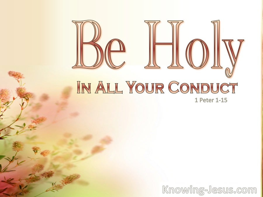 Holy Conduct (devotional) (white) 1 Peter 1:15
