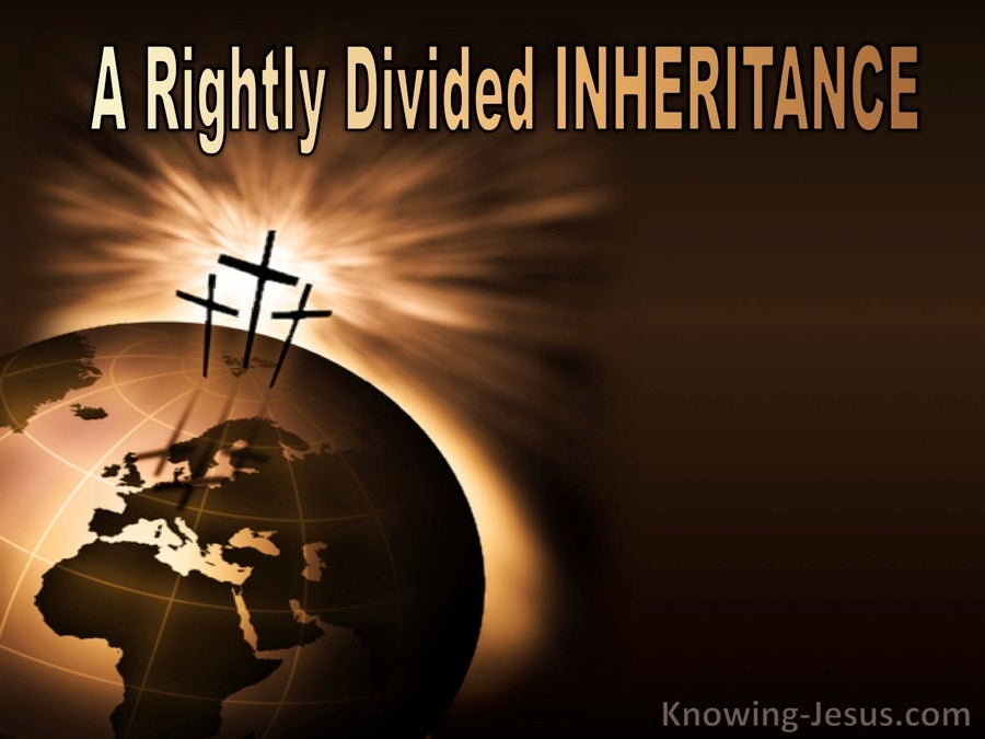 A Rightly Divided Inheritance (devotional)11-29 (beige)