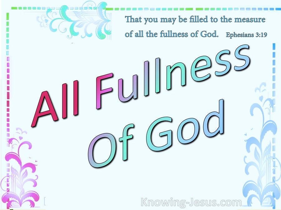 All The Fullness Of God (devotional) (aqua) - Ephesians 3:19