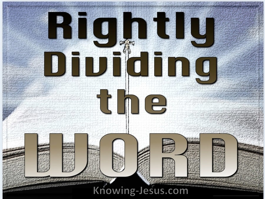 2 Timothy 2:15 Rightly Divided (devotional)11-24 (beige)