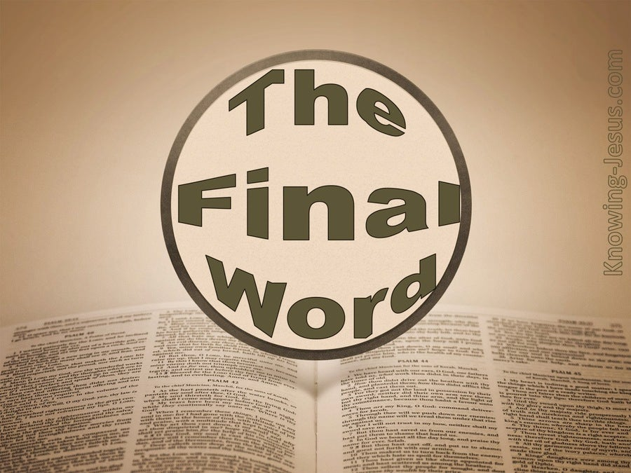 The Final Word (devotional)03-30 (brown)