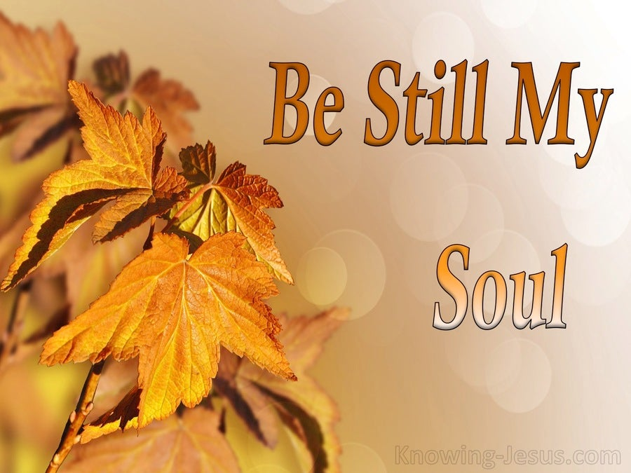 Be Still My Soul (devotional) (orange)