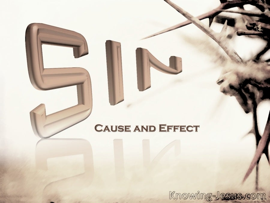 Cause and Effect of Sin (brown)