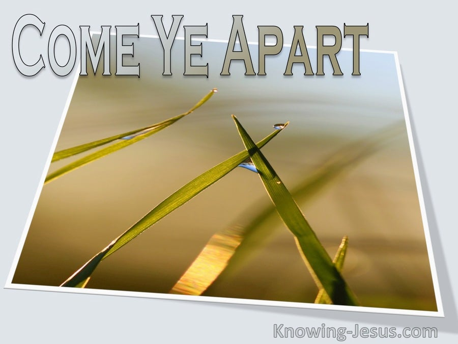 Mark 6:31 Come Ye Apart (devotional)06:24 (gray)