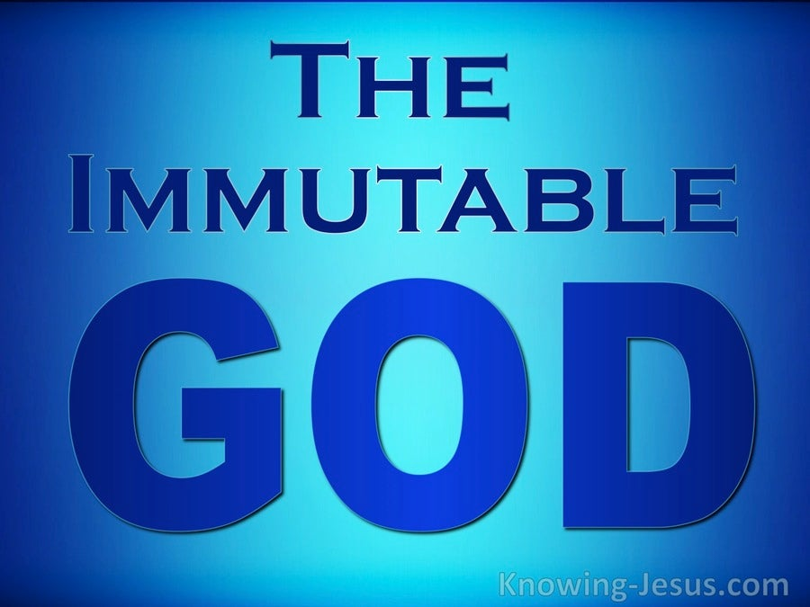 The Immutable God (devotional)