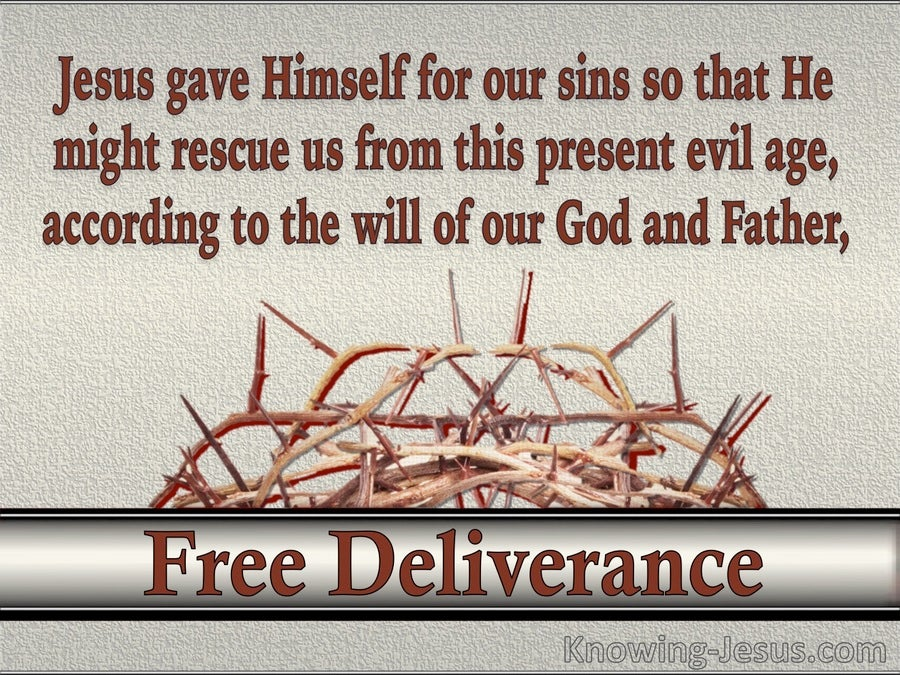 Free Deliverance (devotional)  (red) - Galatians 1:4