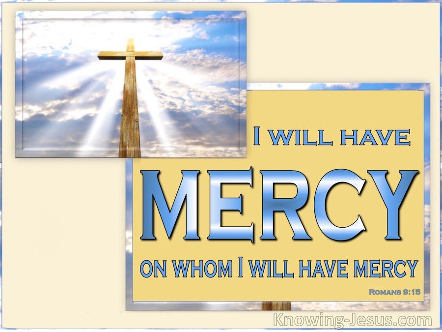 God's Divine Mercy (devotional) (blue) - Romans 9:15