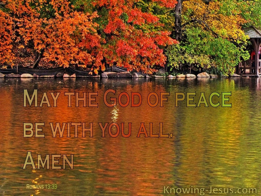 God's Perfect Peace (devotional) (orange) - Romans 15:33