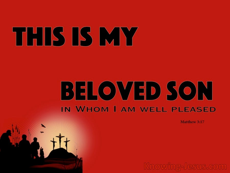 Matthew 3:17 God's Beloved Son (devotional)10-08 (red)