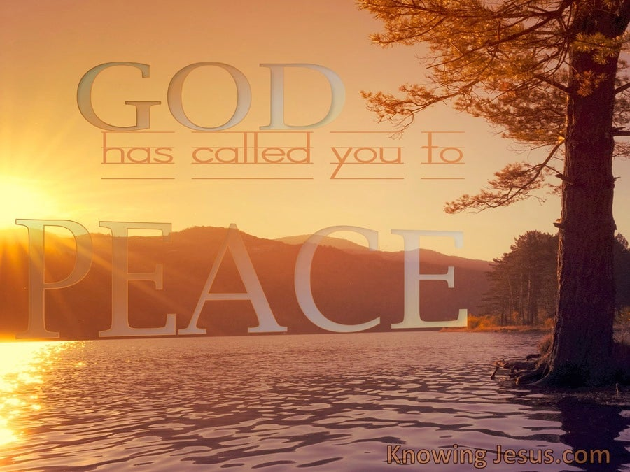 1 Corinthians 7:15 God Has Called You To Peace (brown)