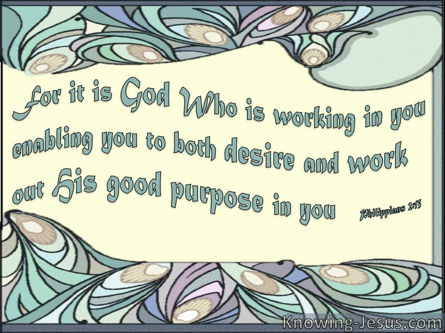 God's Work in You (devotional) (cream) - Philippians 2:13