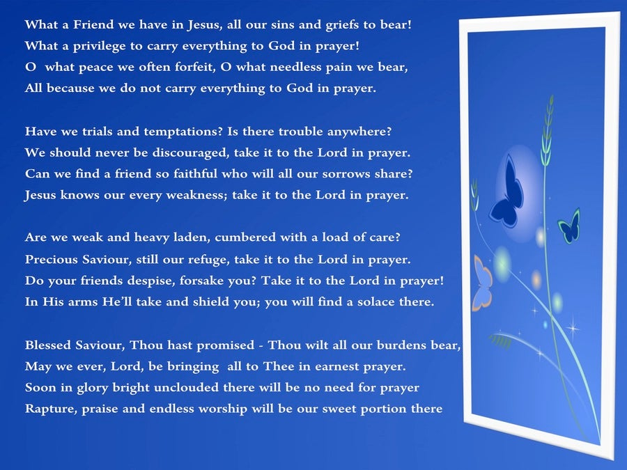 God, My Friend (devotional) (blue) - poem