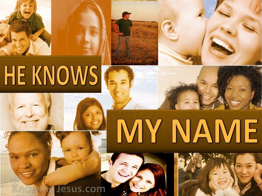 He Knows My Name (devotional) (brown)