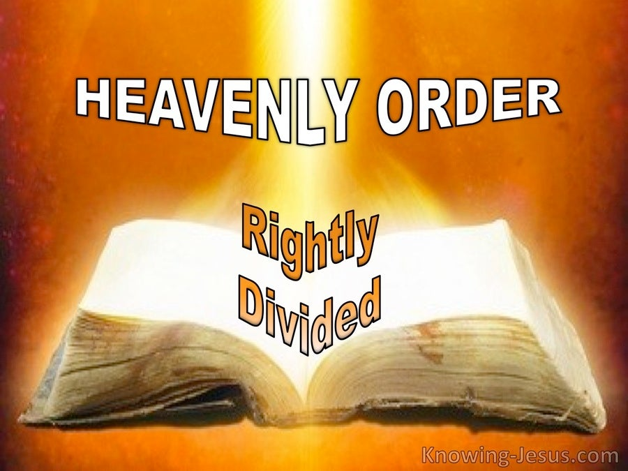 Heavenly Order Rightly Divided (devotional) (orange)