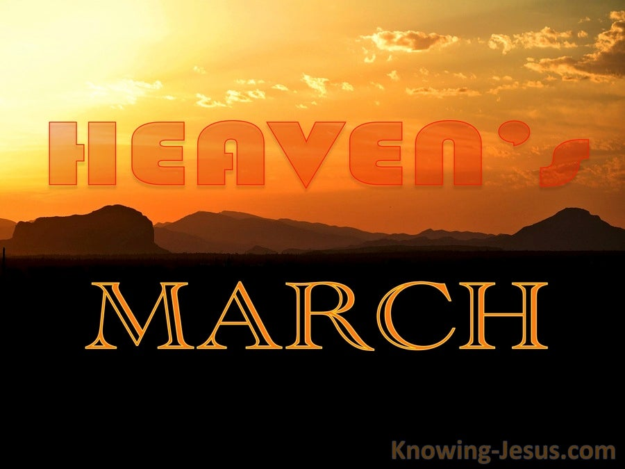 Heaven's March (devotional) (orange)
