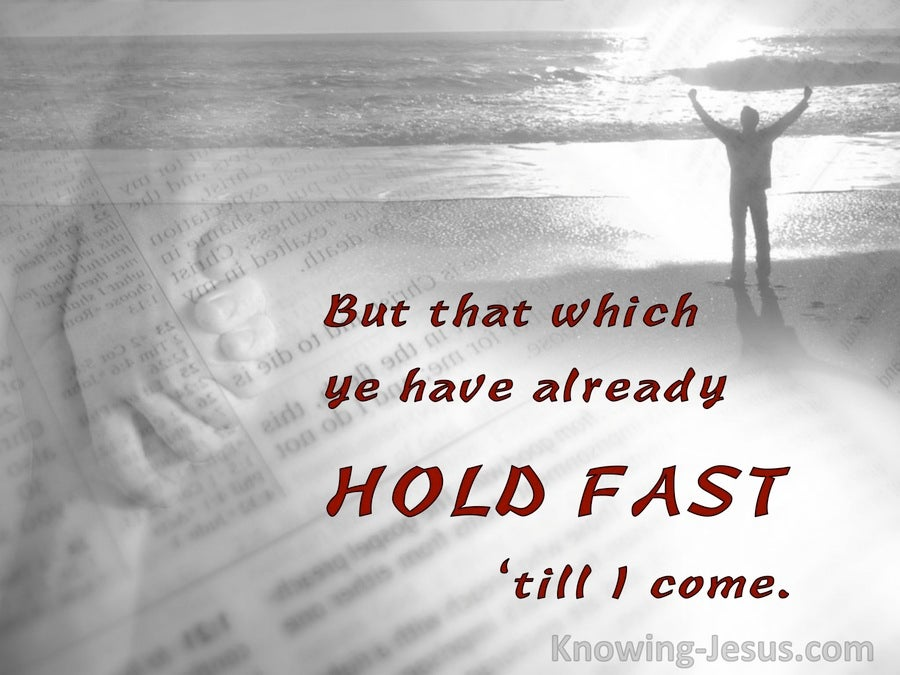 Holding Fast (devotional) (red) - Revelation 2:25